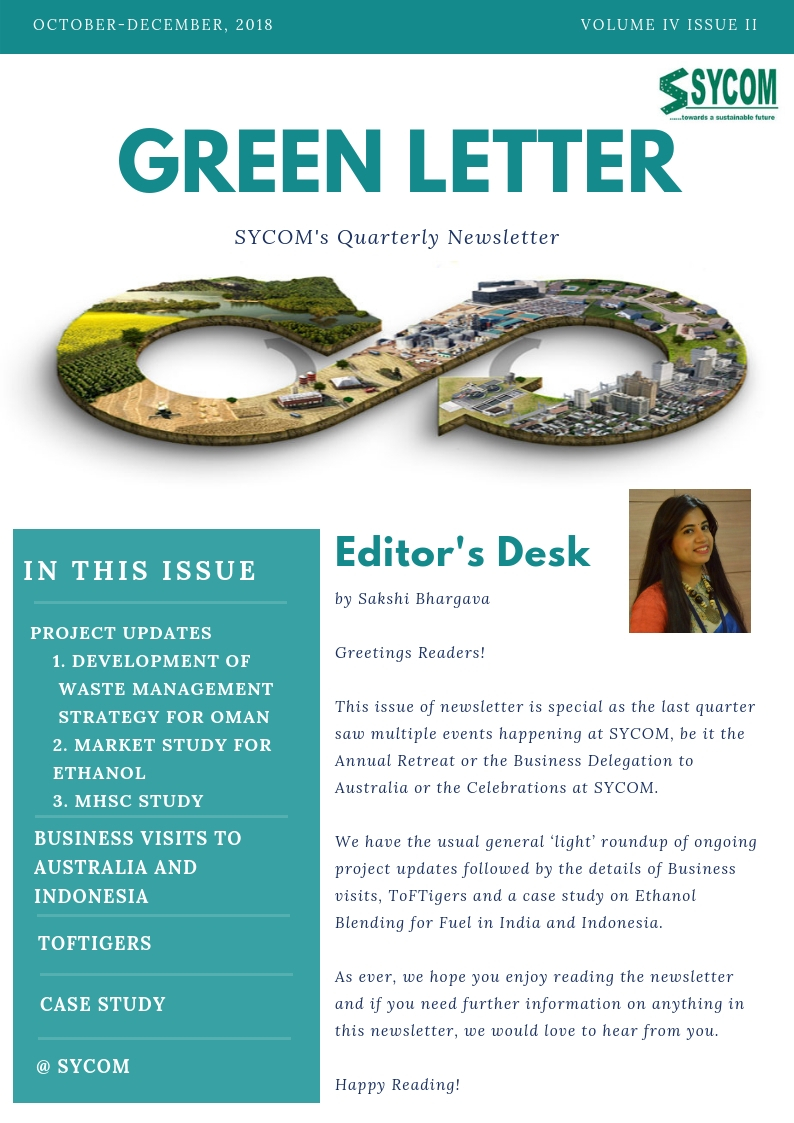 SYCOM'S GREEN LETTER VOL-IV ISSUE II